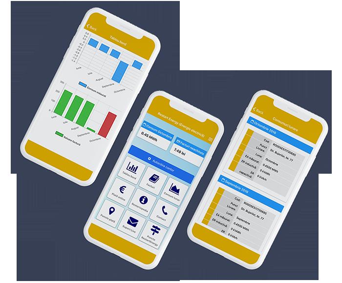 Aplicația Restart Energy pentru acces la consumul tău lunar de energie și gaz