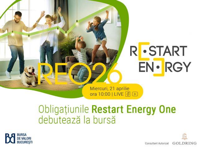 Obligațiunile Restart Energy One debutează pe SMT